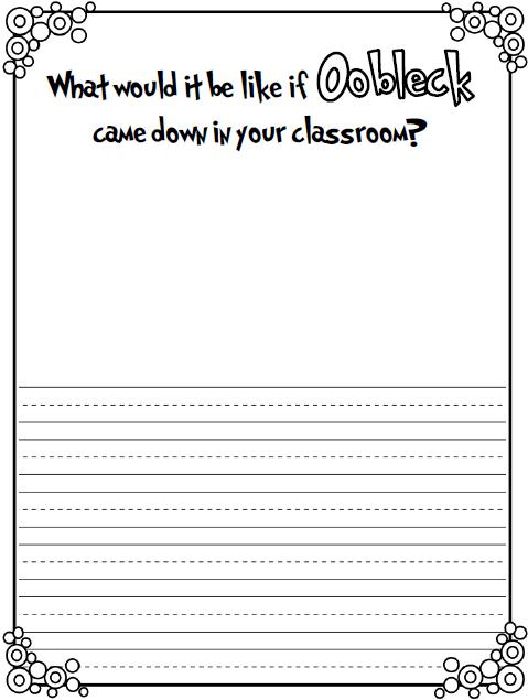 Oobleck Worksheet Worksheets For School - Kaessey