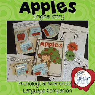 https://www.teacherspayteachers.com/Product/Apples-Story-Phonological-Awareness-Language-Preschool-Unit-963050