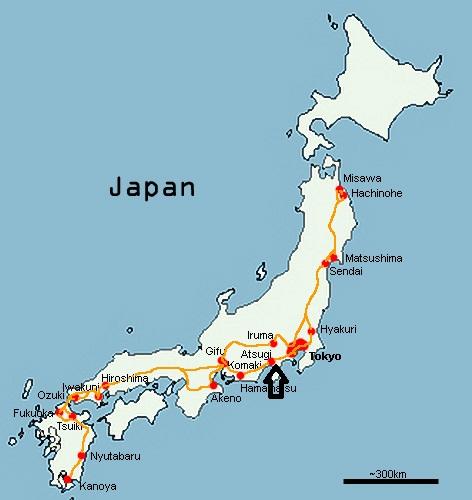 map of atsugi japan