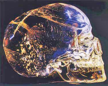 Cráneo de cristal de cuarzo de Origen Maya encontrado en Belice