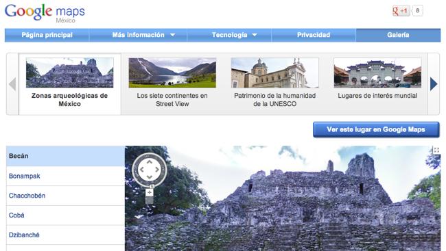 Visita las zonas arqueológicas de México desde Street View de Google Maps
