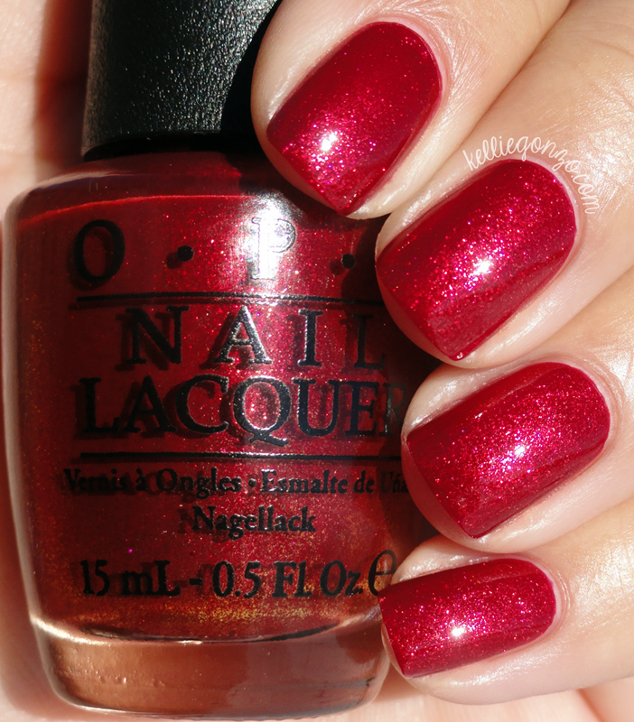 OPI Red Fingers & Mistletoes