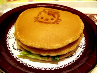 Hello Kitty pancakes dessert