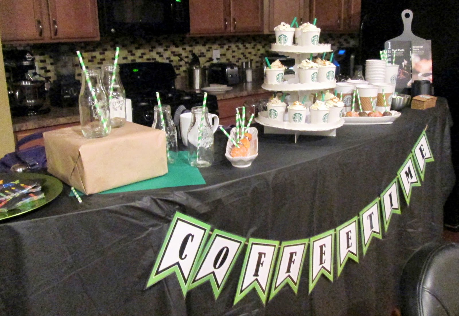 Lifestyle post on how to throw a starbucks party with dessert bar