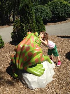 frog prince, storybook gardens