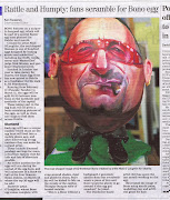 Bono egg in Irish Independent. My Bono egg made todays Irish Independent.