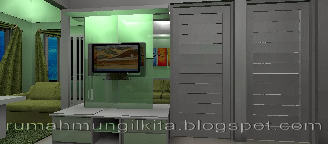 Backdrop TV hijau glossy