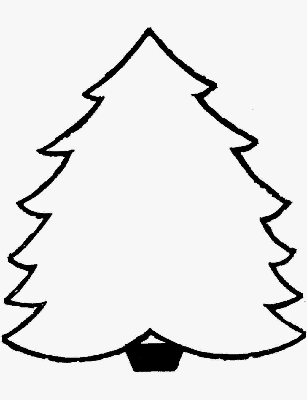 Christmas Trees Printable Coloring Pages Best