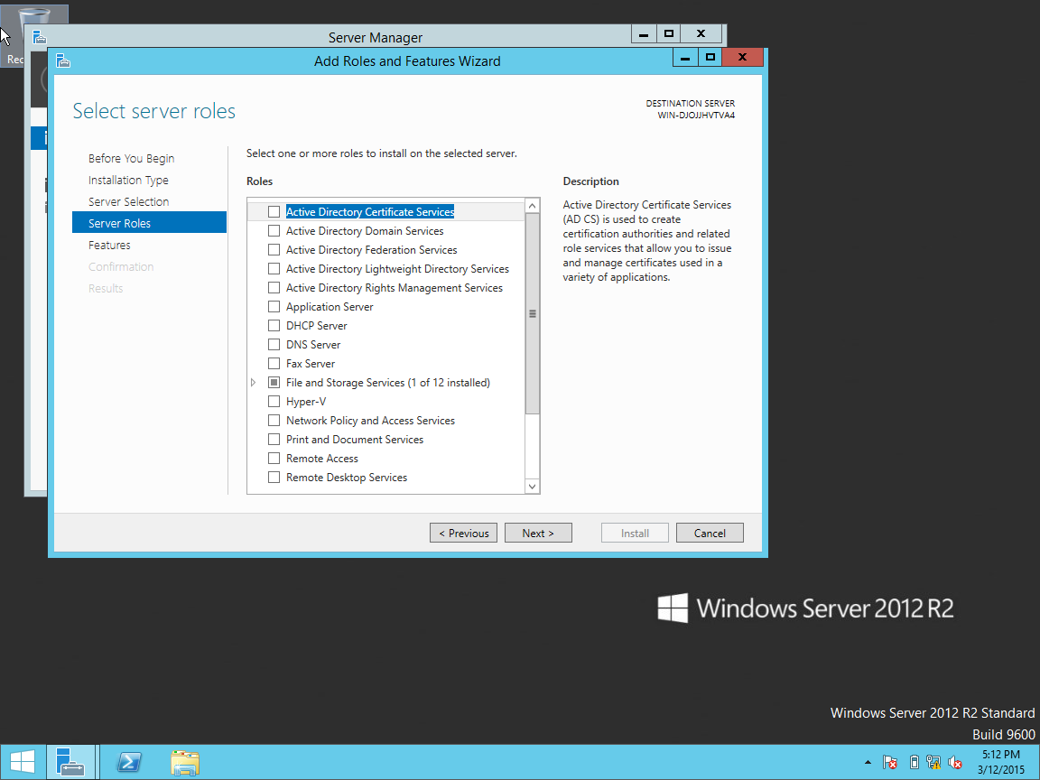 Technical support services installing windows server 2012 r2 in windows server 2012 essentials is an ideal first server and it can also be used as the primary server in a multi server environment 1betcityfo Gallery