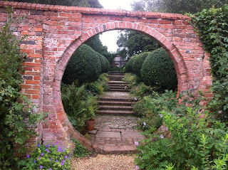 Circular doorway at West Green House, Hampshire