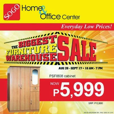 Sogo Biggest Furniture Warehouse Sale Aug 29 To Sept 17 2014 Pamurahan Your Ultimate Source