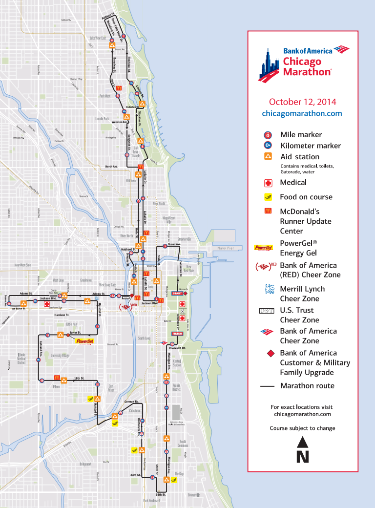 Sloopin A South Loop Blog Marathon Weekend Is Here Which Means - Chicago marathon map