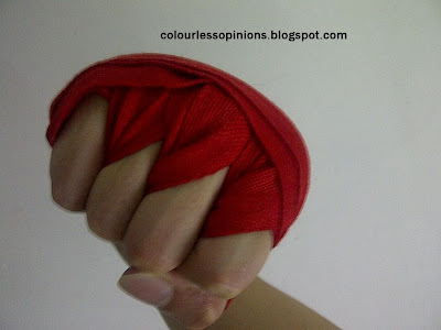 Mixed Martial Arts MMA Fist with hand Wraps