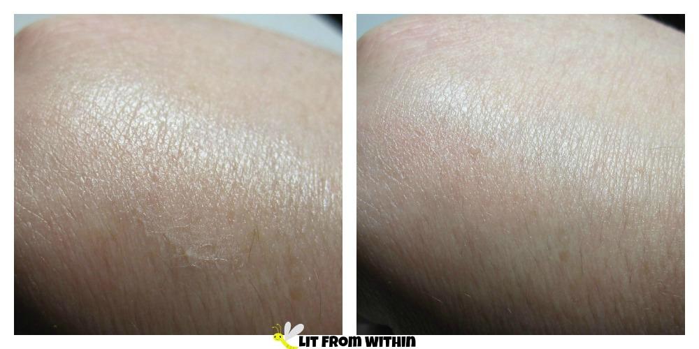 Cover F/X Illuminating Primer on my skin