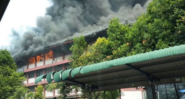 Sekolah Kebangsaan Taman Samudra terbakar