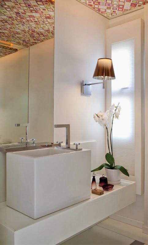 Itens Decoracao Lavabo Decoração com Papel Contact Ideias para casa móveis  -> Decoracao Banheiro Itens
