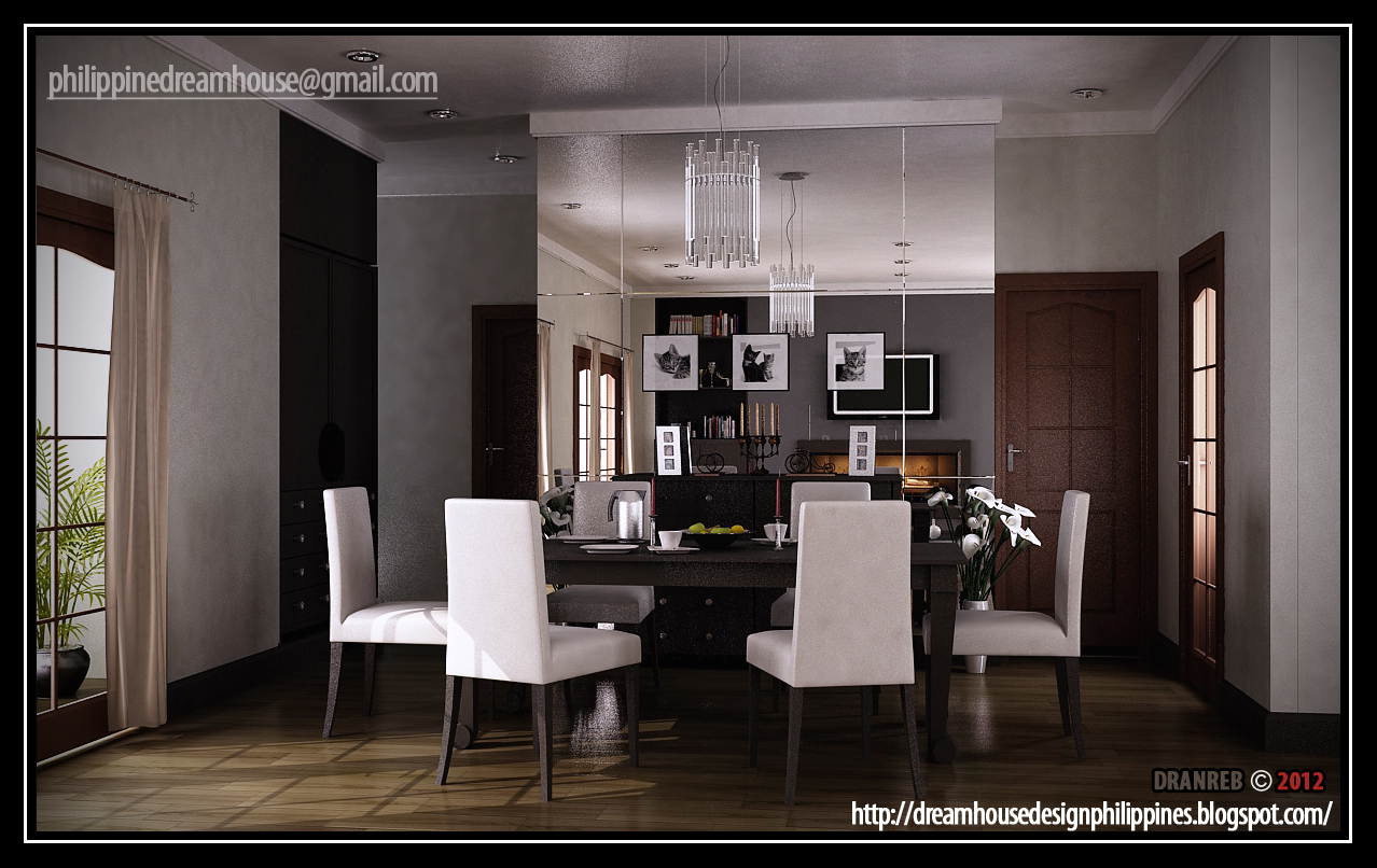 Philippine dream house design living dining room for Living dining room design