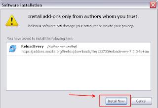 klik instal now pada blogger seo