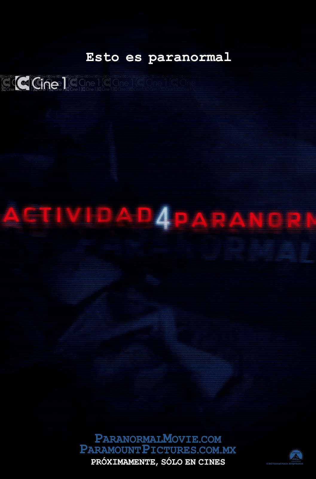 Poster Paranormal Activity 4 (Actividad Paranormal 4)