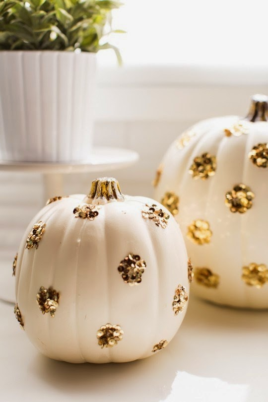 Sequin Polka Dot Pumpkins