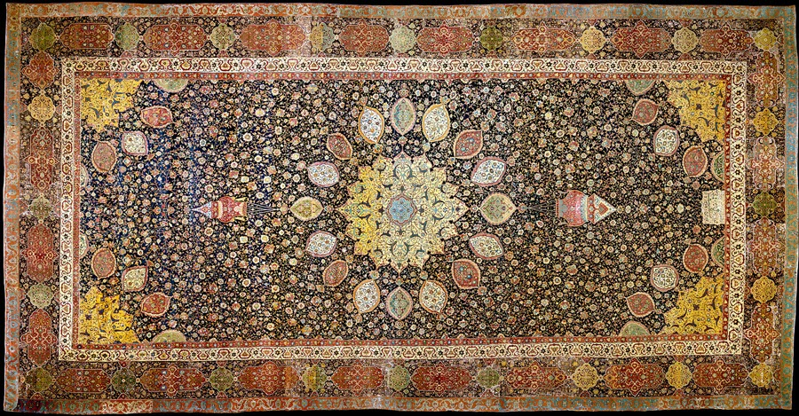 Lostpastremembered The Ardabil Carpet Persian Art And Albaloo Polow Rice With Cherries