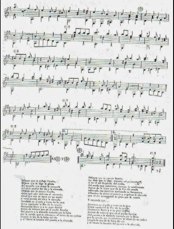 Chabuca Granda - La flor de la canela | Partituras para Guitarra