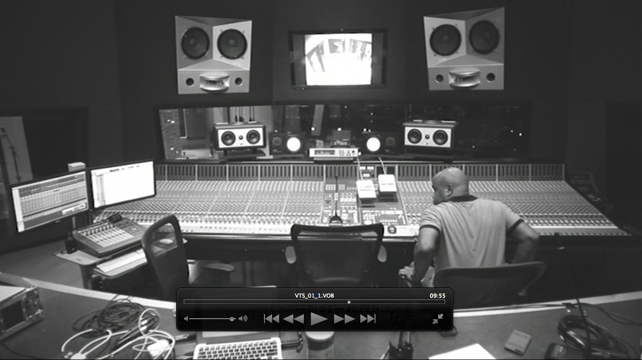 Kelvin Avon (Afreex) recording on a massive SSL desk