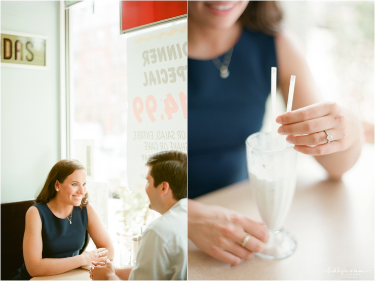 Vintage Ice Cream Soda Shop Engagement Session Photography
