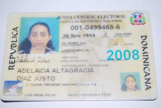 Encuentran documentos extraviados de la Sra. Adelaida Altagracia Díaz Justo