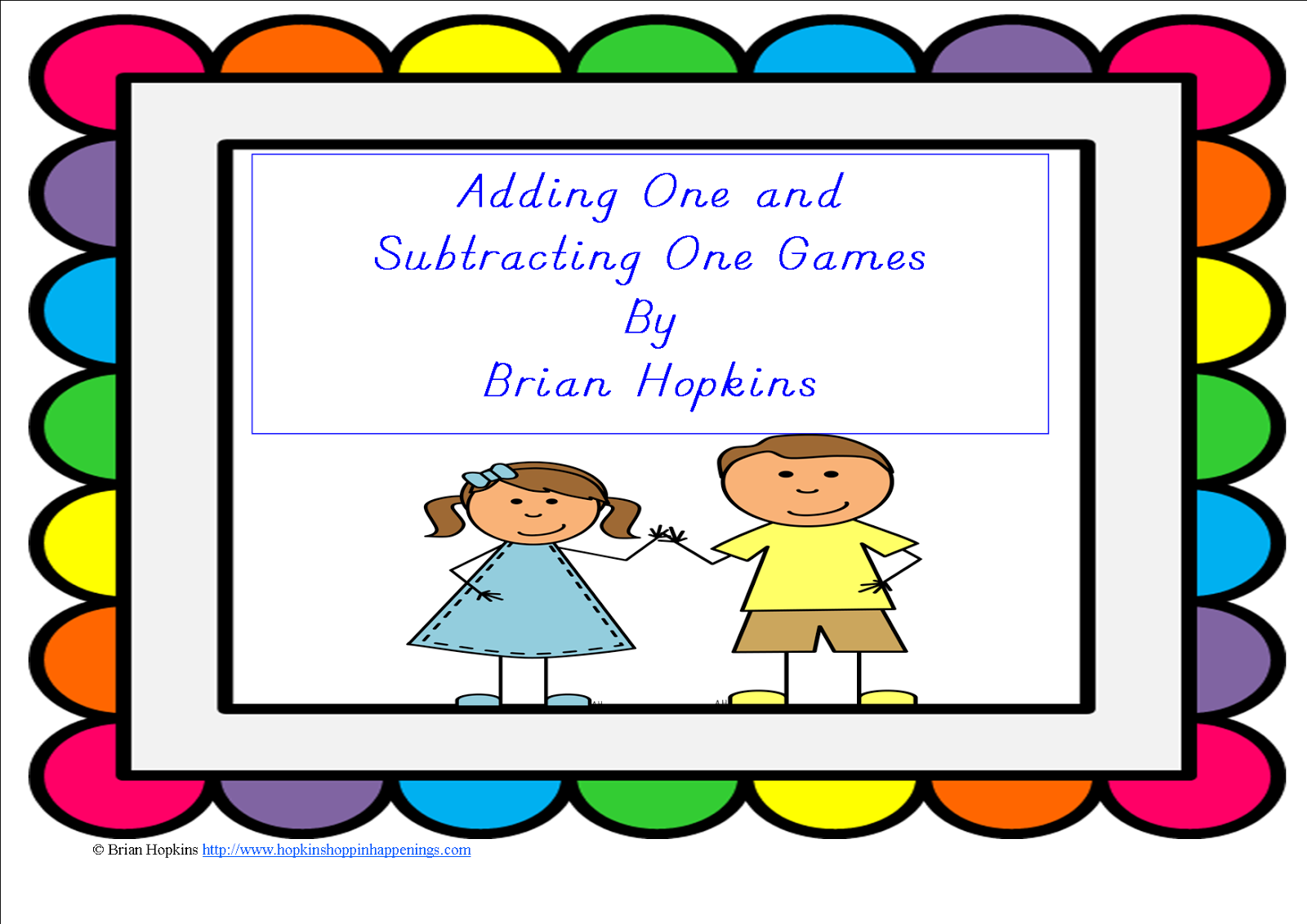 http://www.teacherspayteachers.com/Product/FREEBIE-Adding-One-one-more-Subtracting-One-One-Less-Games-668935