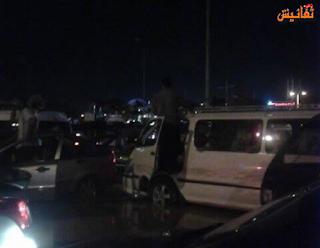 شلل مروري على الطريق الدائري بسبب انفجار ماسورة مياة رئيسية