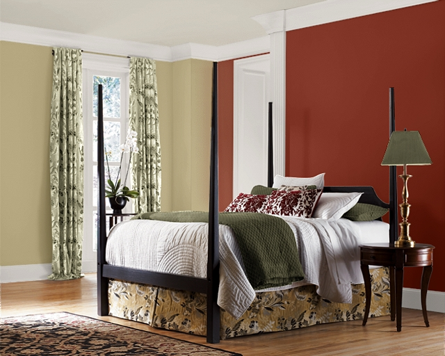 Red Accent Wall Colors