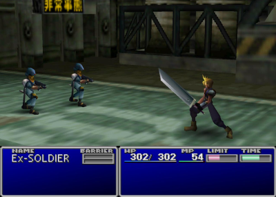 Final Fantasy 7 Turn based battle