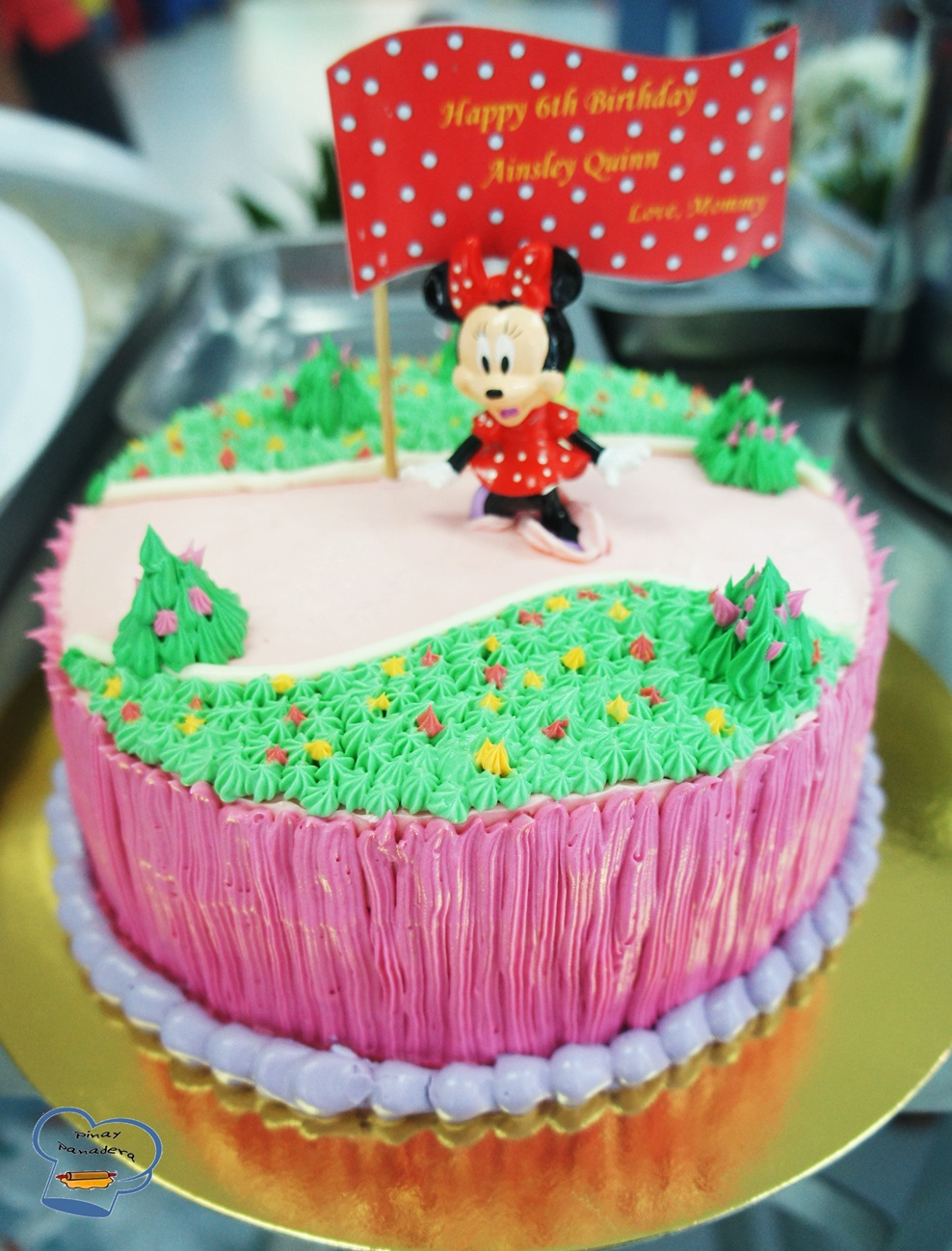 Pinay Panaderas Culinary Adventures Minnie Mouse Cake for Ainsley