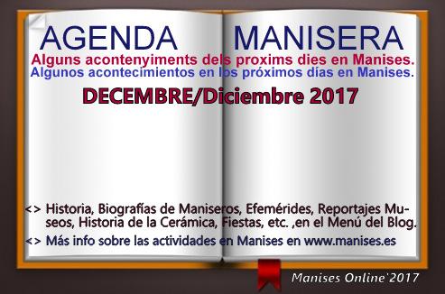 AGENDA MANISERA, DICIEMBRE 2017