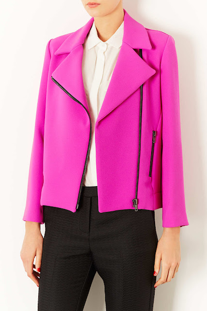 bright pink jacket