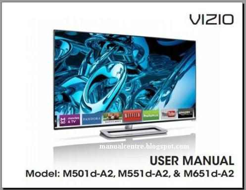 Vizio M501D-A2R Manual Cover