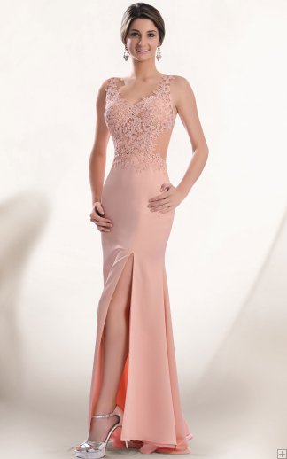 abito lungo rosa