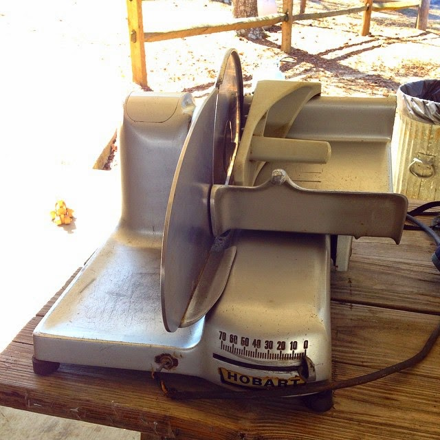 #thriftscorethursday Week 56 | Instagram user: sarahmastrariocook shows off this Hobart Meat Slicer