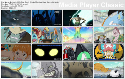 Download Film One Piece Episode 556 (Tirai Telah Dibuka! Senjata Baru Sunny Go!) Bahasa Indonesia
