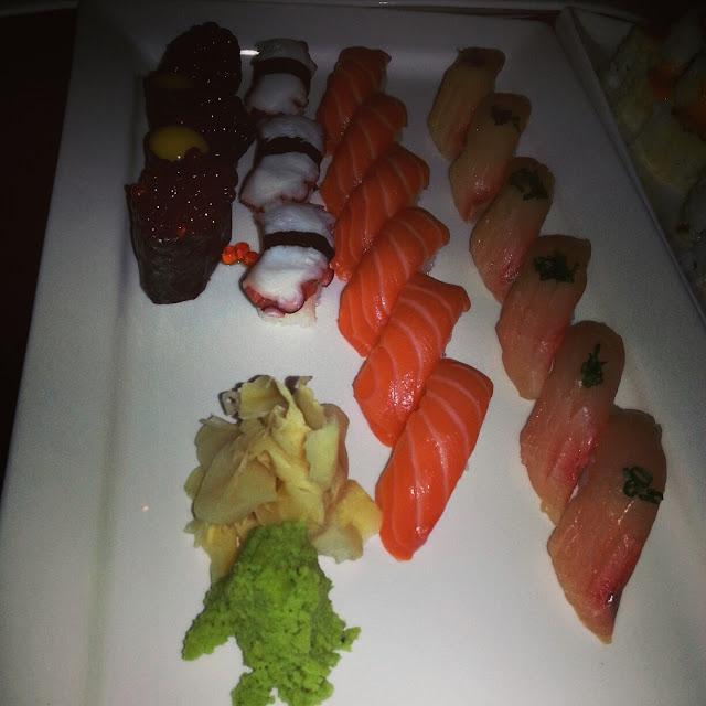 sushi at RAW Sushi and Sake Lounge Philadelphia