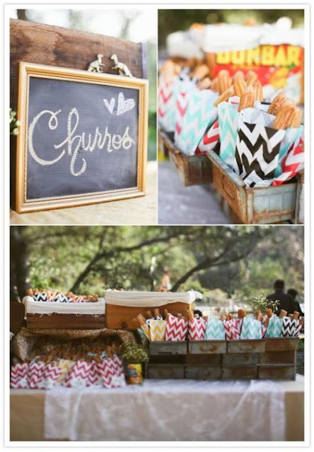 Barra de churros para boda