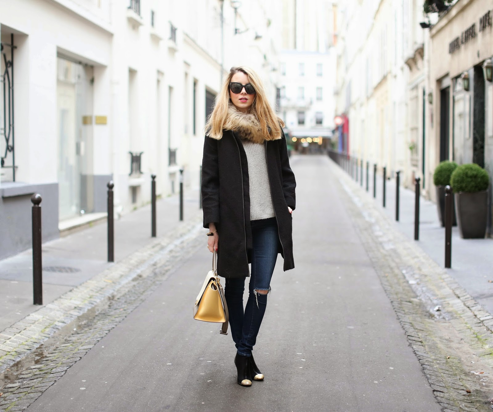 Céline, fur, chanel, isabel marant, streetstyle, fashion blogger, paris