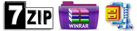 7zip-winrar-winzip-logo