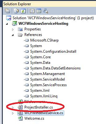 wcf windows service explorer