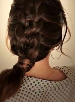 Great Hairdo for Medium Hair: Suspended Infinity Braid Hairstyle