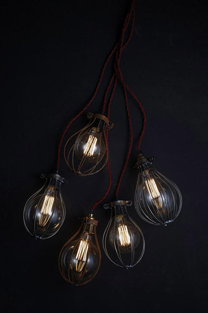 lampara de taller- jaula-vintage de diseño industrial inspiracion