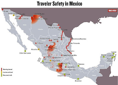 Mexico 4 Canadians Traveler Safety In Mexico Map
