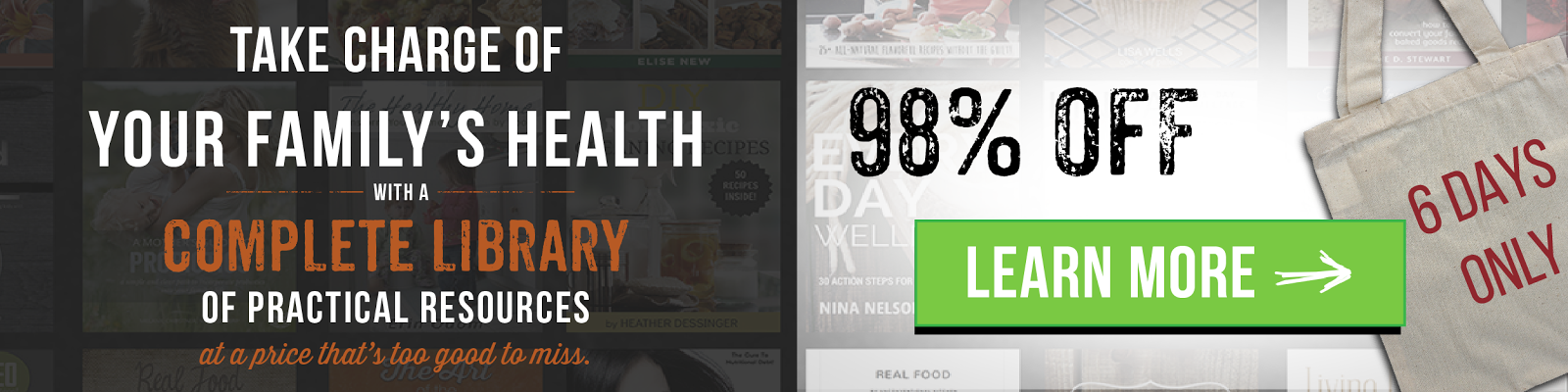 ONLY A FEW DAYS LEFT TO GET THE HEALTHY LIVING BUNDLE!