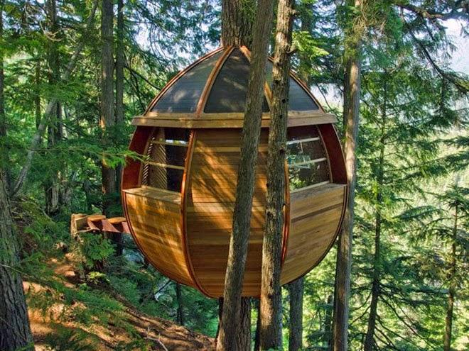 Nhà Cây hình quả trứng, Whistler Woods, Canada